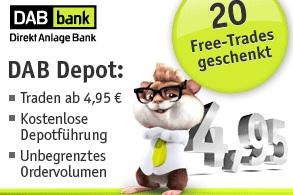 Aktuelles Neukundenangebot der DAB bank
